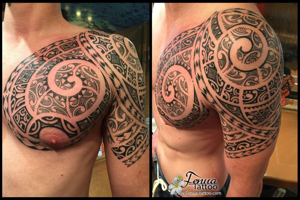 Tatouage Polynesien Sur Le Bras Ou L Epaule Tatouage Polynesien
