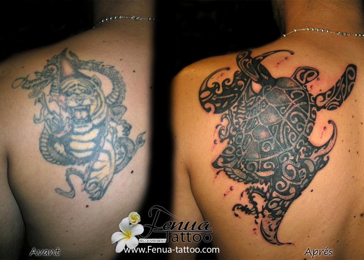 Recouvrement Avec Tatouage Polynesien Tatouage Polynesien Tatoouages Fenua Tattoo