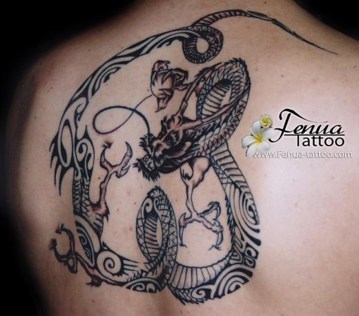 148°) dragon style polynesien