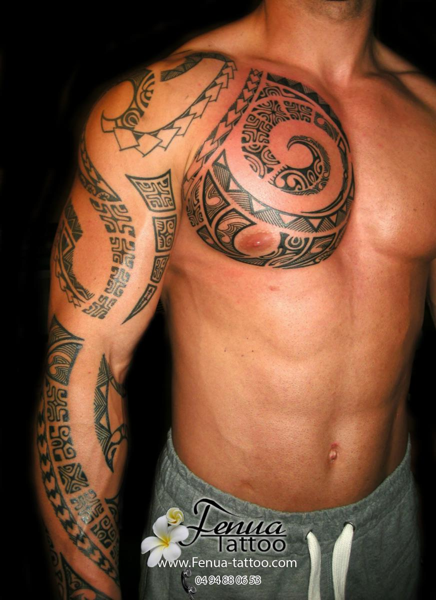 Photos de tatouage polynesien homme tatouage polyn sien Tatouage tribal homme  signification
