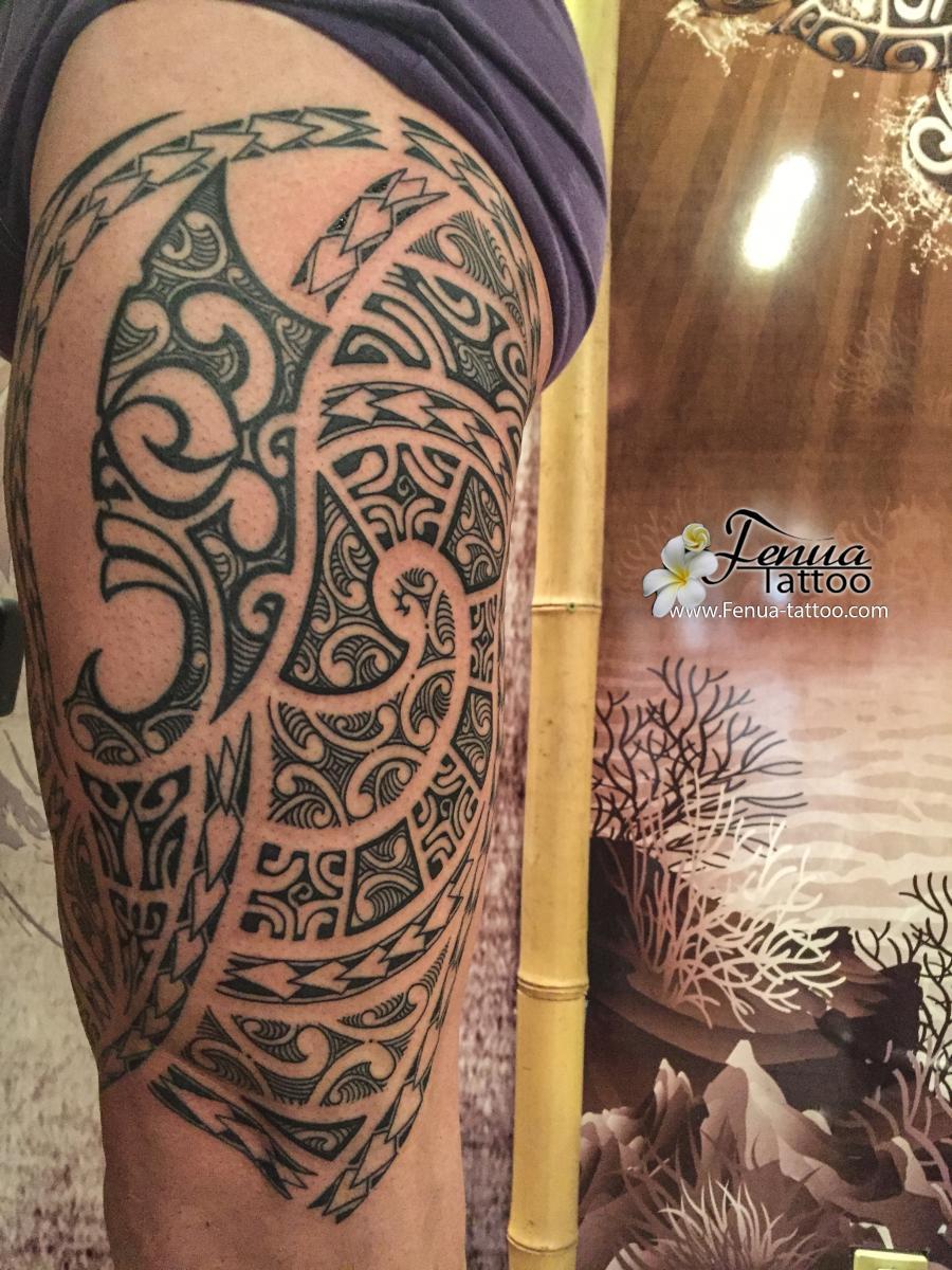 Tatouage cuisse tribal galerie tatouage - Tattoo cuisse femme ...