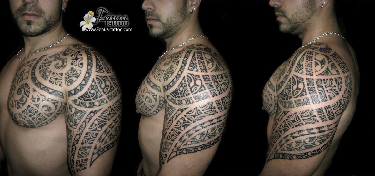 Tatouage Maori Pec Bras Kolorisse Developpement