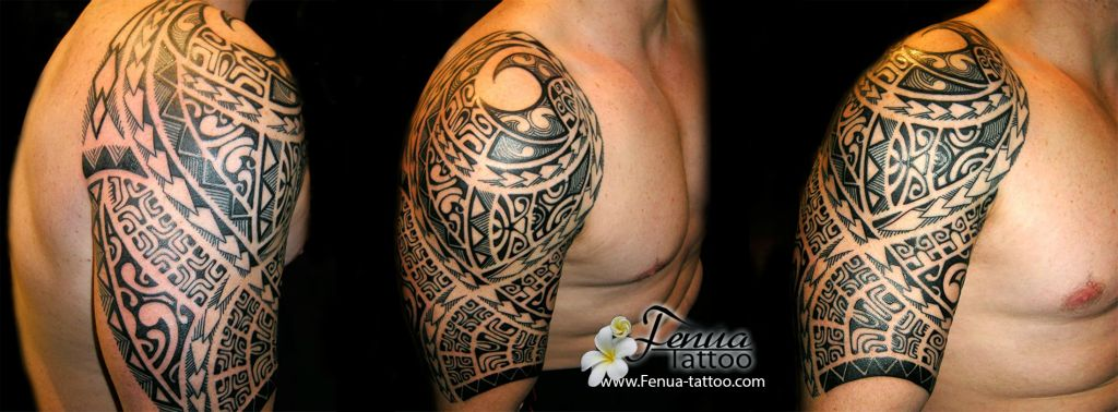 ajout photos de tatouages polynesien paule avant bras homme tatouage polyn sien tatoouages. Black Bedroom Furniture Sets. Home Design Ideas
