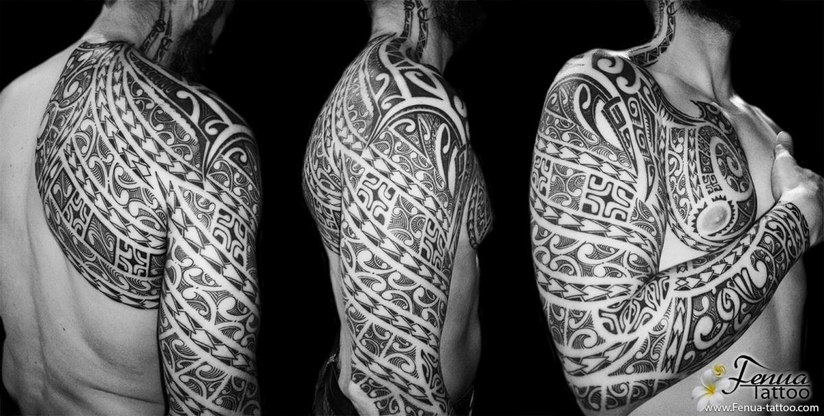 tatouage polyn sien sur bras et paule tatouage. Black Bedroom Furniture Sets. Home Design Ideas
